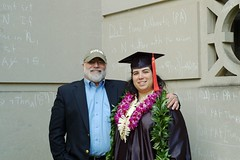 Dad and I (GirlOnAMission) Tags: family amber dad graduation may 2009