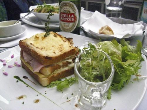 Croque Monsieur at Cafe des Arts