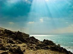 Dead Sea - Jordan (TaQi cronoz) Tags: blue sea lake green nature point landscape dead earth salt surface jordan salty lowest taqi hypersaline taqiyuddin taqicronoz cronoz