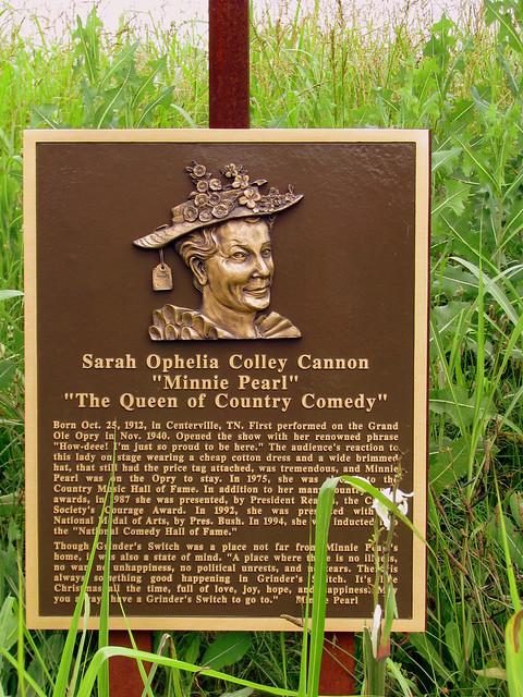 Sarah Cannon (Minnie Pearl) plaque