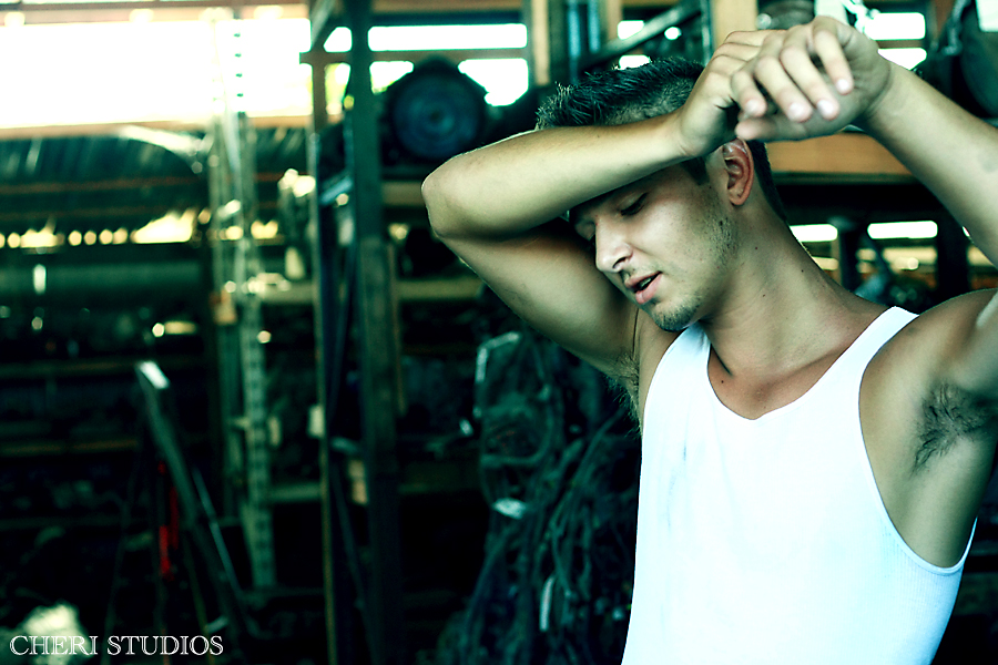 This was my first time shooting a male model. Obviously, I have no freakin' ...