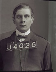 Morphing animation of prisoner mugshot from boy to man (fsmphoto) Tags: rochester crime mugshot convict prisoner 1900s unknownphotographer glassplatenegative dryplatenegative copyrightedallrightsreserved monroecountypenitientiary morphinganimation forrestmaccormack httpwwwfsmphotocom fsmphoto