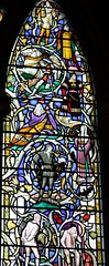 Shakespeare Memorial - Southwark Cathedral (L'habitant) Tags: london church glass religious cathedral churches cathedrals 1954 stainedglass southwark se1 southwarkcathedral stsaviour 090803 christopherwebb stmaryovery southaisle charactersfromplays 3rdwindowof3