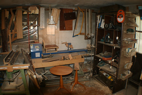 Lathe and power tool cupboard