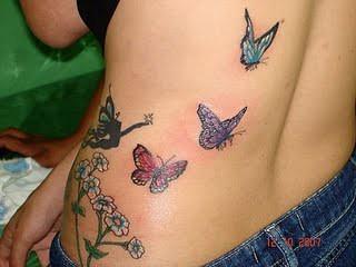 borboletas com fadas nas costas