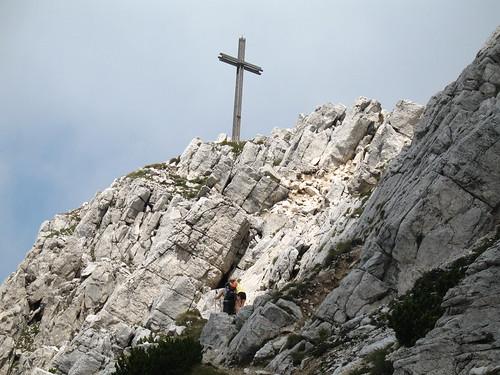 Das Gipfelkreuz des Weißhorn