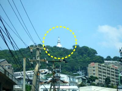 仏舎利塔 広島駅から見える ...