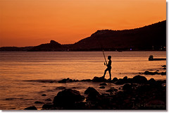 Alone With Nature (Kuzeytac) Tags: sunset sea sky orange seascape color colour silhouette turkey landscape gold fishing view trkiye turkiye aegean scene explore scape siluet deniz leyla assos canakkale gkyz ege manzara gnbatm lsi portakal renk coth altn supershot balk the4elements abigfave canoneos400d canoneosdigitalrebelxti ayvack impressedbeauty infinestyle flickrdiamond bratanesque theunforgettablepictures sunsetmania kuzeytac 100commentgroup saariysqualitypictures aqualityonlyclub