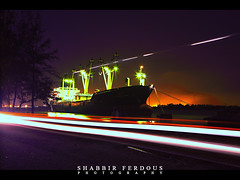 Long Exposure at the Port (Shabbir Ferdous) Tags: longexposure night ship photographer shot bangladesh ef2470mmf28lusm chittagong bangladeshi canoneos5dmarkii shabbirferdous frontpageexplored navalbasearea wwwshabbirferdouscom shabbirferdouscom