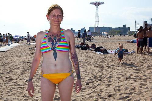 Coney Island Beach: Tattoo lady