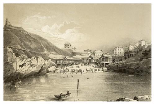 013-Biarritz vista del Establecimiento de Baños del Puerto Viejo 1850- Copyright 2009 álbum SIGLO XIX. Diputación Foral de Gipuzkoa