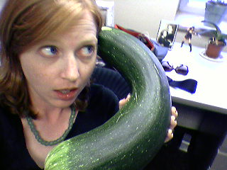 I could get a lot more work done if this zucchini would stop ringing