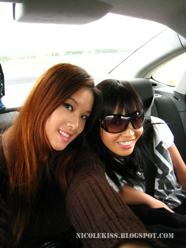 me and jerine at the back seats