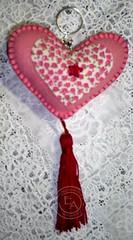 .: Chaveiro Rosa :. (.:  Emprio das Artes  .:. By Fabi Quinquio) Tags: chaveiro