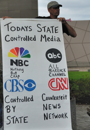 mainstream media protest poster
