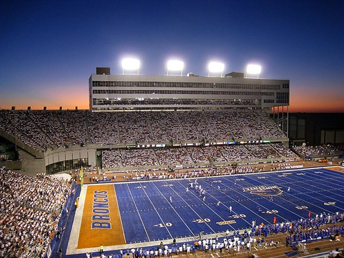 Sunset over Bronco Stadium