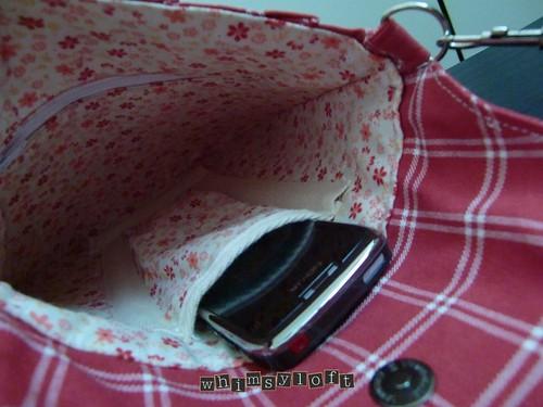 Red Plaid Sling Bag3