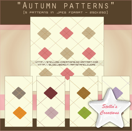Autumn patterns Set 1 - © Blog Stella's Creations: http://sc-artistanelcuore.blogspot.com