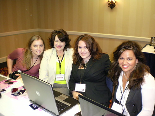 Jenny Erikson, Michelle Lancaster, Me, and Lisa Mei in the Grassroots Training session... naturally, I was tweeting.