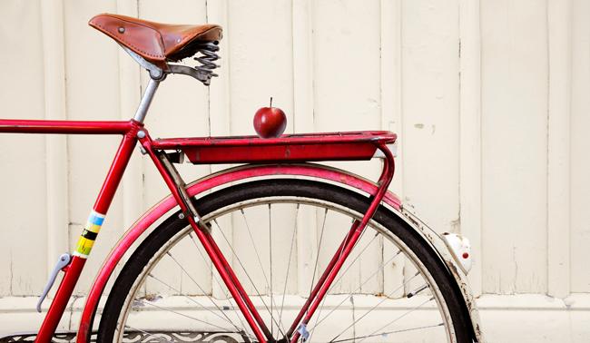 röd cykel
