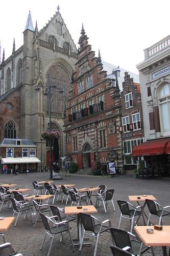 Grote Markt in Haarlem and the facade of the Vleeshal by Erwyn van der Meer.