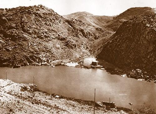 Desembocadura del arooyo de la Degollada en el Tajo  a inicios del siglo XX