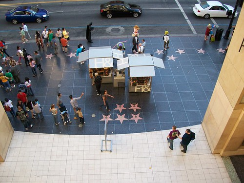 Looking down from the Kodak Theatre