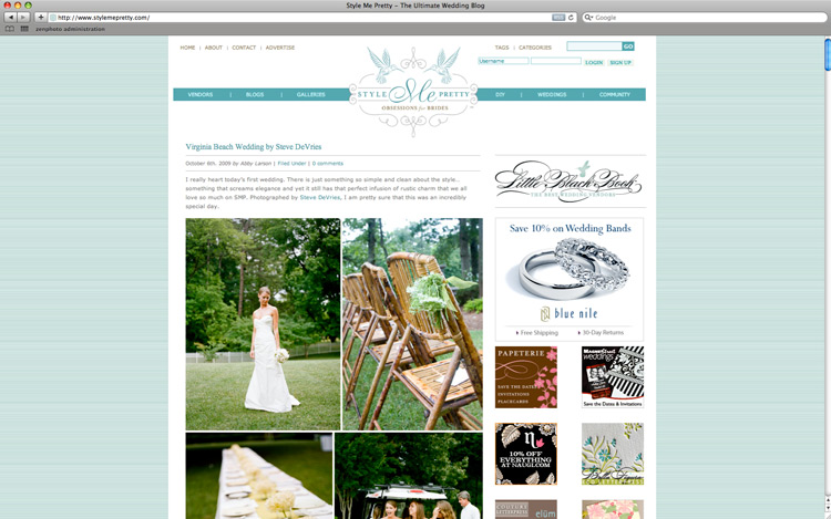 Image of 078:  Wedding featured on Style Me Pretty!
