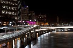 Brisbane (WilliamBullimore) Tags: longexposure bridge water night river au australia brisbane freeway queensland lighttrails roads brisbaneriver digitalcameraclub atomicaward