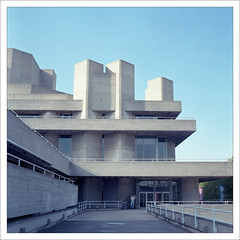 HASSELBLAD 500CM- ROYAL NATIONAL THEATRE (cam> :]) Tags: london architecture concrete theatre kodak southbank hasselblad 400 1984 portra modernarchitecture modernist brutalist haywood brutal themes 500cm nationalfilmtheatre bfi 400nc cameronbaxter