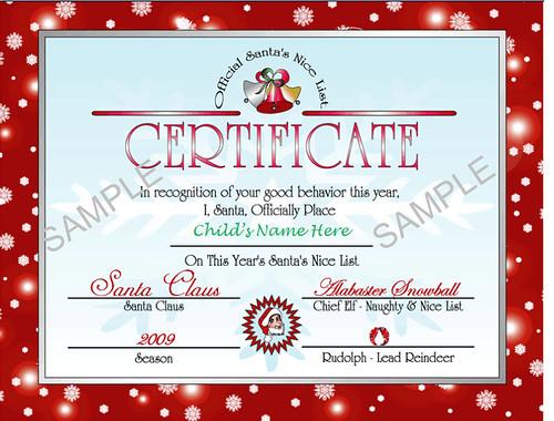 Printable Santa's Nice List Certificate - Christmas Letter from Santa ...