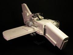 One Winged Angel (<pdragon>) Tags: airplane fighter lego propeller dieselpunk dieselpulp