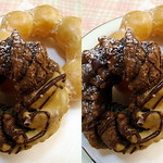 doughnut ミスド 生キャラメルショコラフレンチとポン・デ・リング (parallel 3D) thumbnail