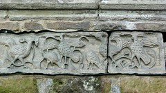 Birds, Anglo Saxon carving - Breedon-on-the-Hill