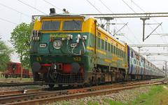 IMG_0711 (Ankit Bharaj) Tags: canon is indian 100 sk karnataka railways ankit sx livery haryana ajj irfca haraj sapthagiri wap1 asaoti