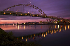 Fremont Bridge (Jon Asay ) Tags: bridge sunset cloud reflection oregon river portland movement long exposure fremont filter nd willamette