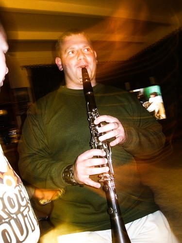 Ladies and gentlemen, Wayne on the clarinet