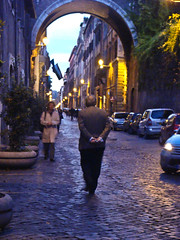 Prettiest street in town (OhChiik) Tags: rome evening strolling viagiulia elderlygentleman