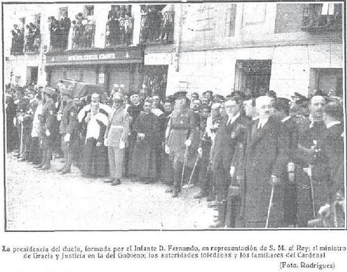 Entierro del Cardenal Reig Casanova. Foto Rodríguez para Mundo Gráfico