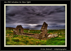 An Old Window to New light (Irishphotographer) Tags: old ireland black church mayo sod kinkade bellmullet beautifulireland irishphotographer imagesofireland kimshatwell breathtakingphotosofnature anoldwindowtonewlight beautifulirelandcalander wwwdoublevisionimageswebscom