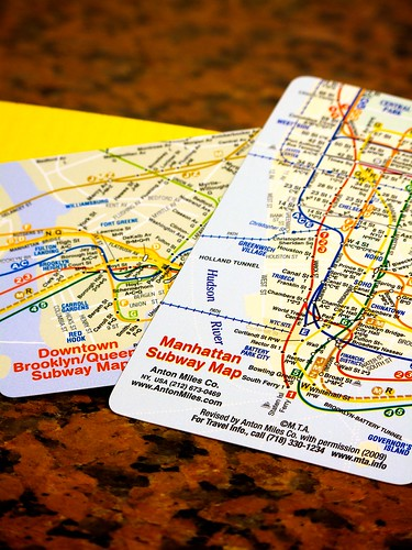 Manhattan Subway Map by Guillermo Esteves