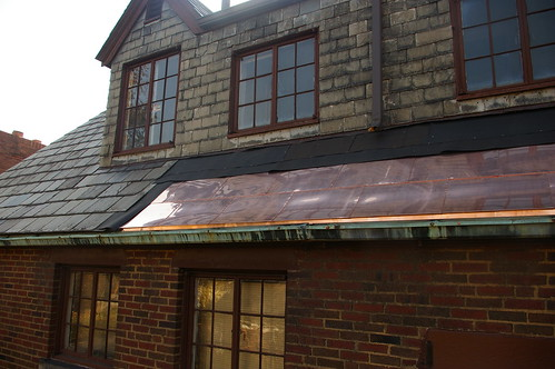 New copper roof section