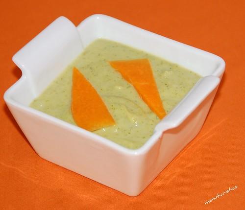 zuppa di broccoli con zucca brasata