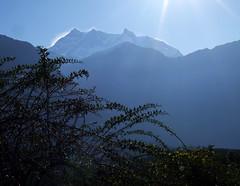 Morning leaving Kalopani (LeelooDallas) Tags: nepal mountain trek landscape asia fuji dana finepix himalaya s9500 circuit 2009 annapurna tatopani iwachow