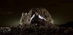 The Hiding (Joshua Von Garber) Tags: longexposure mars landscape smoke multipleexposure sciencefiction timetravel hiding narrative quantum timetraveller pileofdirt martianlandscape timeportal quantumuniverse fictionalnarrative