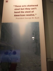 Bush quote inside visitor center