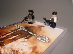 Modern Warfare 2 (Exxtrooper) Tags: light 2 modern cool call gun lego military duty machine made ba minifigs custom heavy playstation m4 warfare ps3 m4a1 exx brickarms exxtrooper