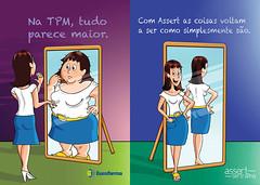 tpm (eduardowestin) Tags: espelho slim fat mulher cartoon gorda tpm magra cartum
