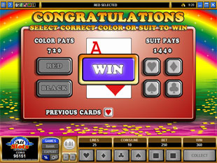 free Rainbows End gamble bonus game