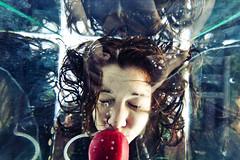(morgan.laforge) Tags: reflection water hair crazy underwater box apples bobbing kennalaforge